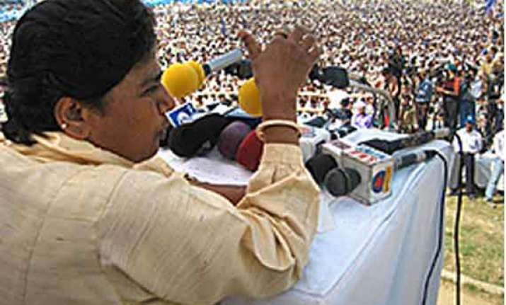 media creating false modi wave mayawati