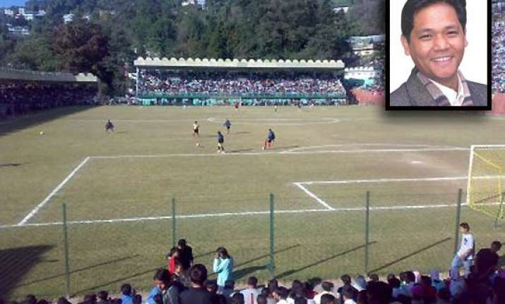 meghalaya oppn leader donates money for stadium upgrade