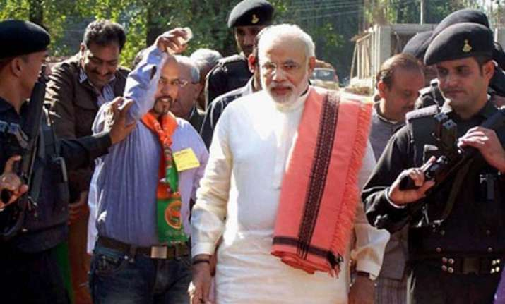 modi arrives in hyderabad amid tight security