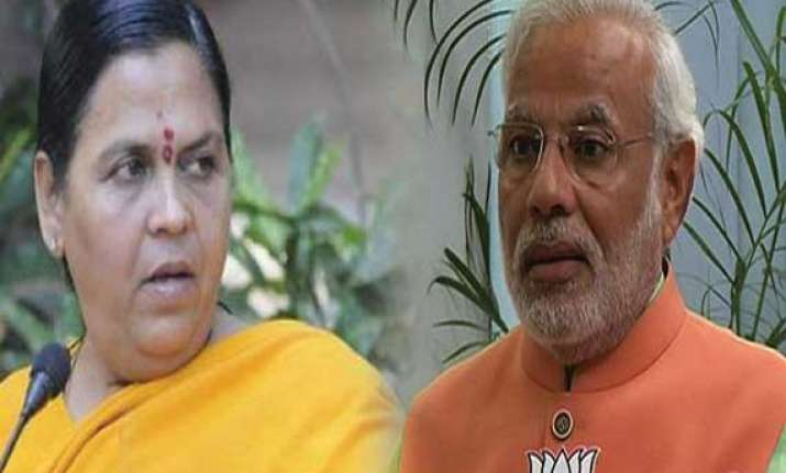 modi assigns task of cleaning ganga to uma bharti