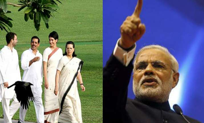 modi attacks gandhi family says cong has given damad power