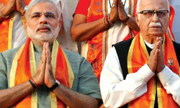 modi meets rajnath advani may be made head of bjp campaign
