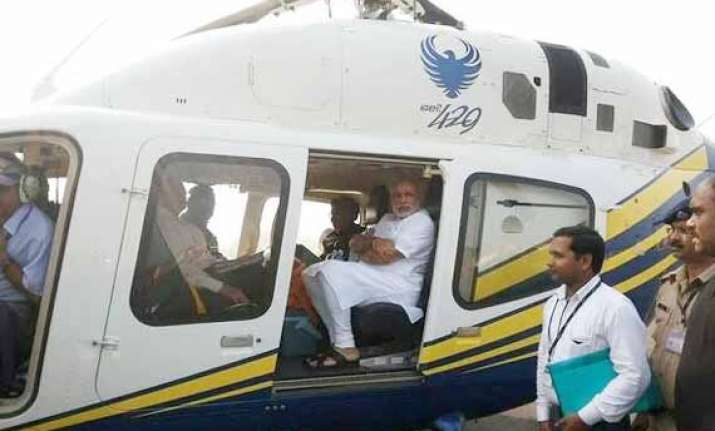 my chopper was deliberately delayed modi