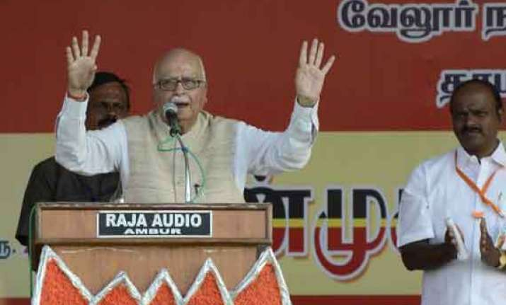 nda now a major player in tamil nadu advani