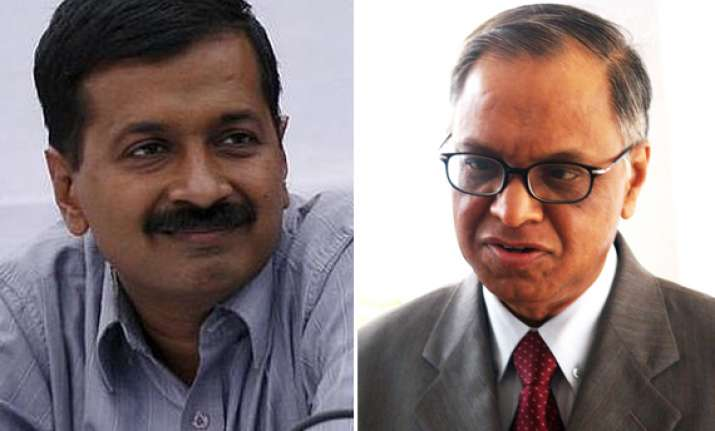narayana murthy says he gave donations to kejriwal for rti