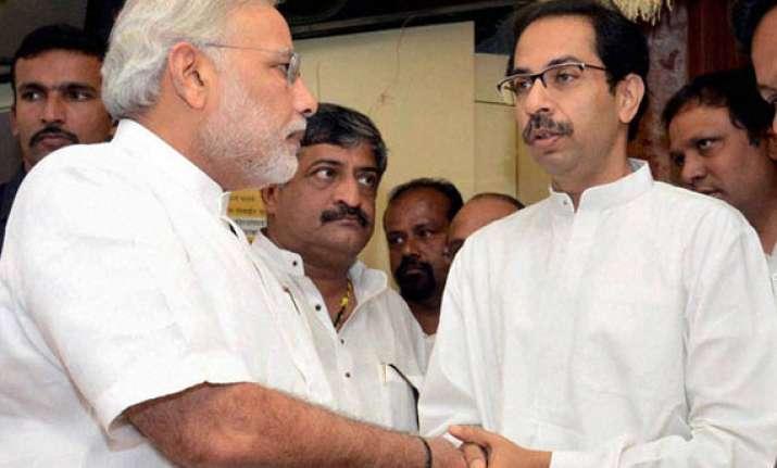 after shiv sena slams rambo act modi meets uddhav