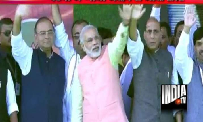 live narendra modi s patna rally