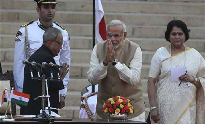 narendra modi sworn in as 15th prime minister of india
