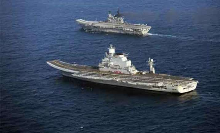 narendra modi to sail on aircraft carrier vikramaditya
