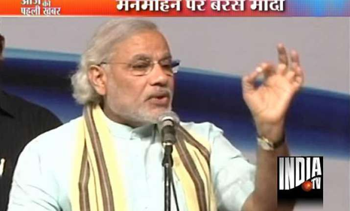 narendra modi lashes out at pm congress again