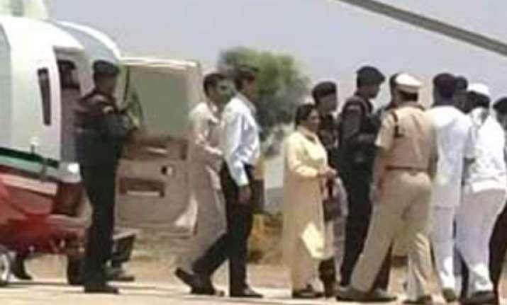 narrow escape for mayawati s plane