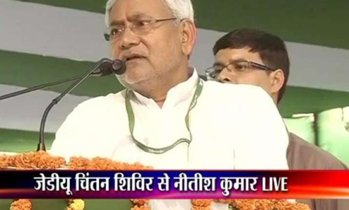 nitish kumar hits out at modi describes him as hitler