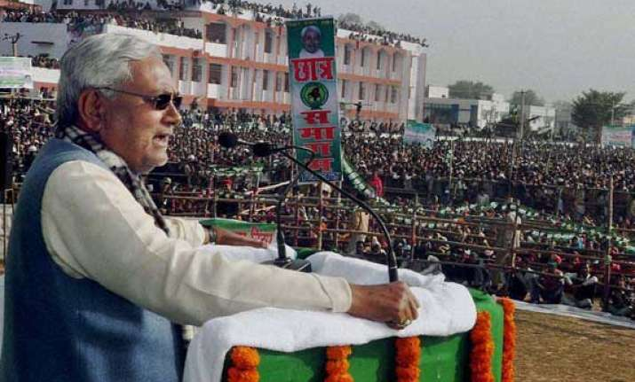 nitish slams poll surveys showing bjp s surge in ls polls