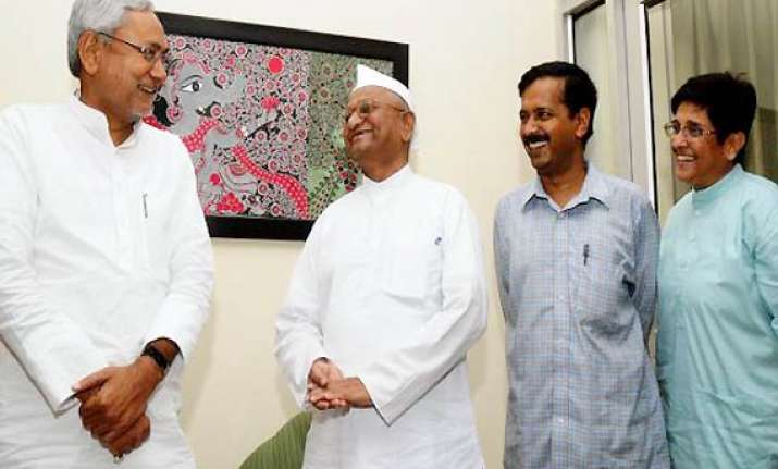 nitish free to choose whom to give priority team anna