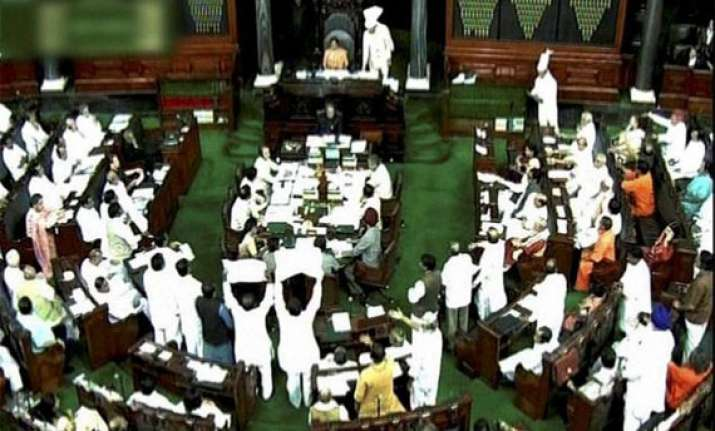 noisy scenes force lok sabha adjournment till 2 p.m.
