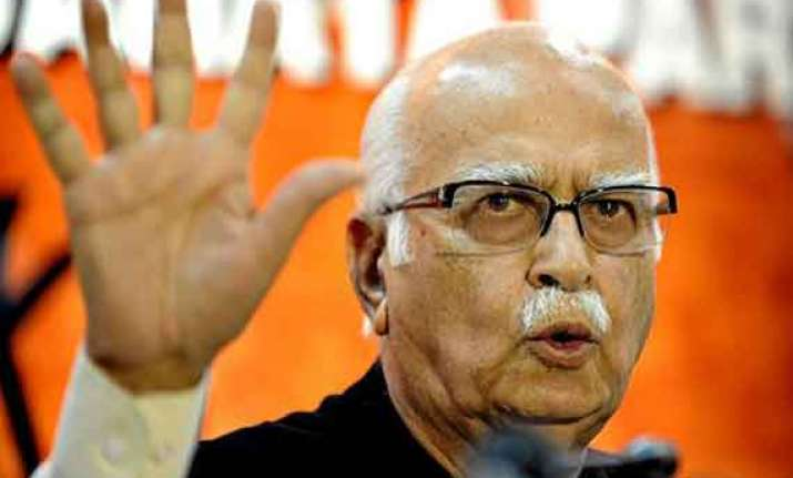 not sure of bjp notching up majority on its own says advani