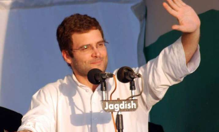 only a congress govt can deliver in up says rahul