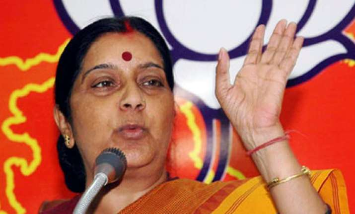 opposition not responsible for disruption sushma swaraj