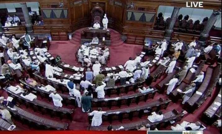 opposition stalls rajya sabha on gaza issue house adjourned