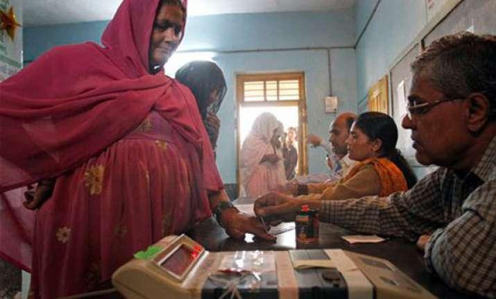 over 12 million vote in gujarat battle round one