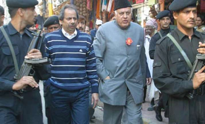 pdp activists protest over farooq s comment on power theft