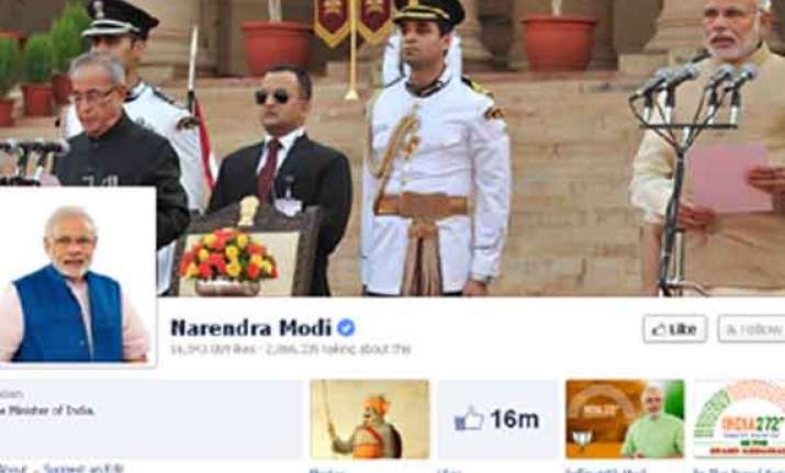 pmo india facebook page gets over million likes in four days