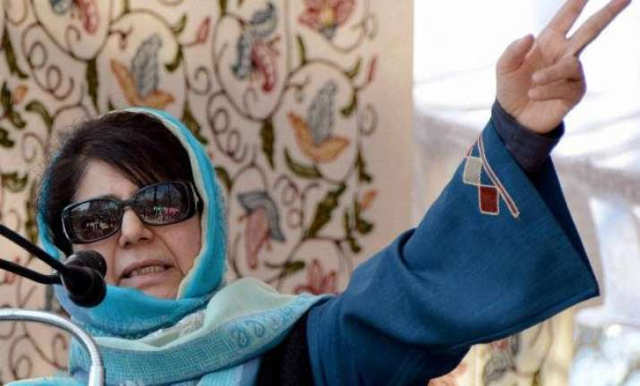 mehbooba mufti maintains suspense over j k govt formation