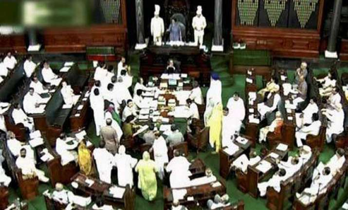 parliament disrupted over telangana adjourned