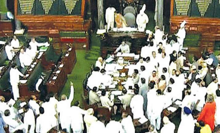 parliament disrupted over missing coal block files