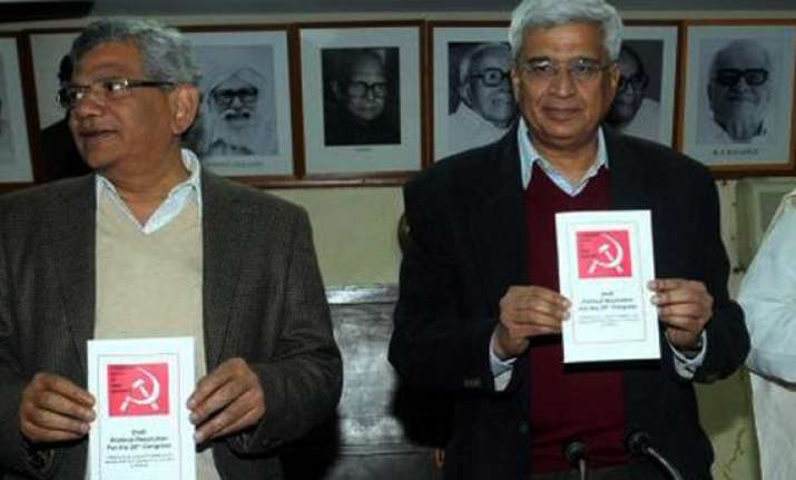 poll debacle key issue in cpi m s political resolution