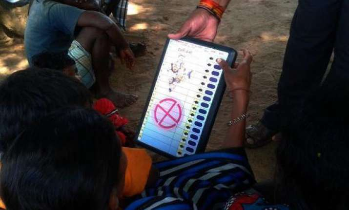 polling sluggish in bastar s maoist dominated areas