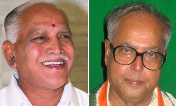 pranab mukherjee suitable man for president says yeddyurappa