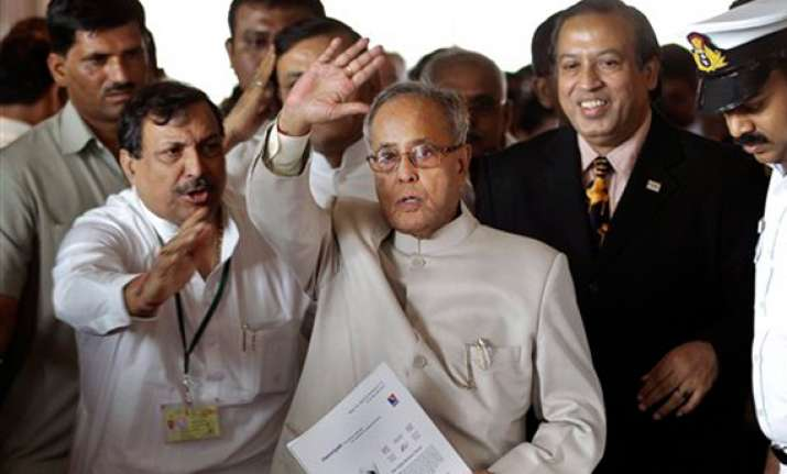 pranab seeks floating votes for his candidature