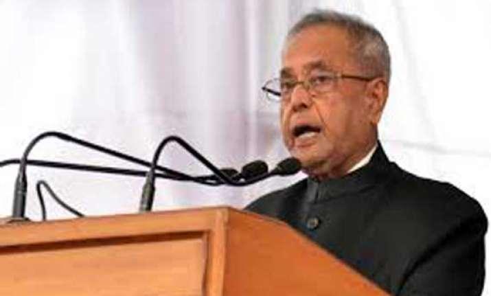 live president outlines modi sarkar s priorities in