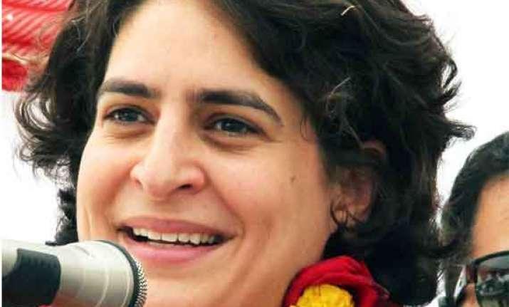 priyanka takes jibe at modi warns against concentration of