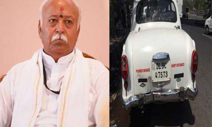 rss chief escapes unhurt in road accident