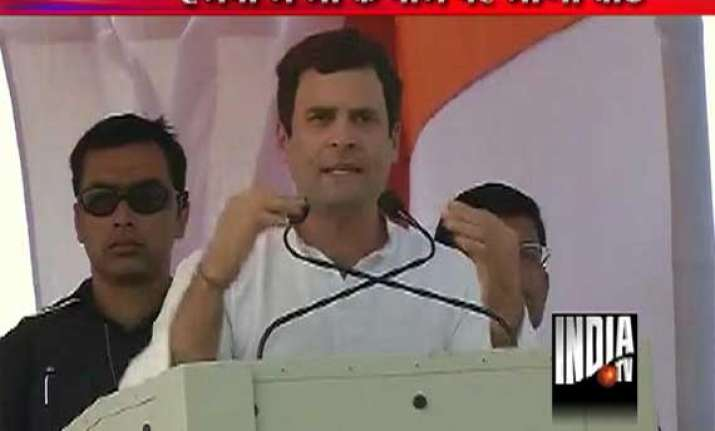 rahul gandhi my mom wept as she couldn t vote for food