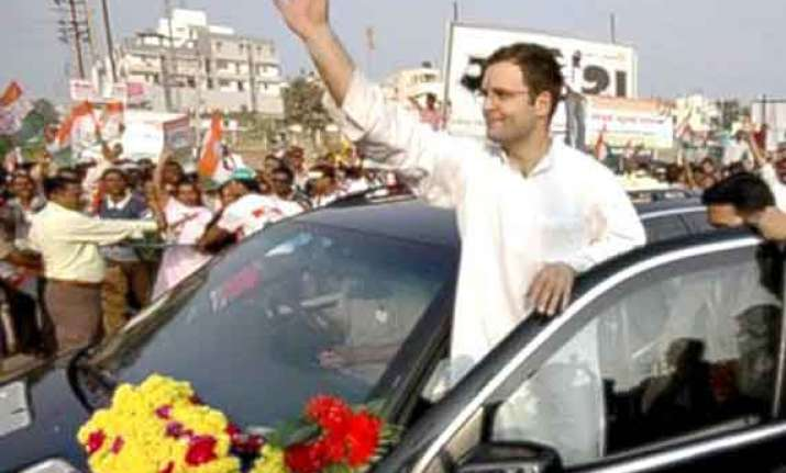 rahul again hits out at gujarat development model