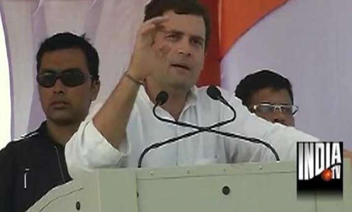 rahul tells mp voters bjp is a party of capitalists not of