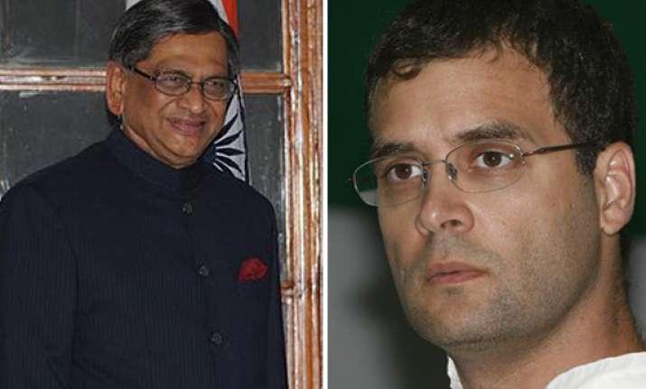 rahul gandhi should join govt says s m krishna