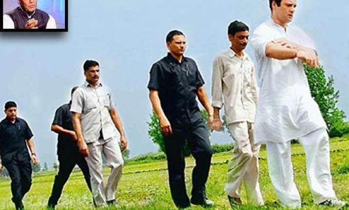 rahul s kisan yatra a political gimmick rajnath
