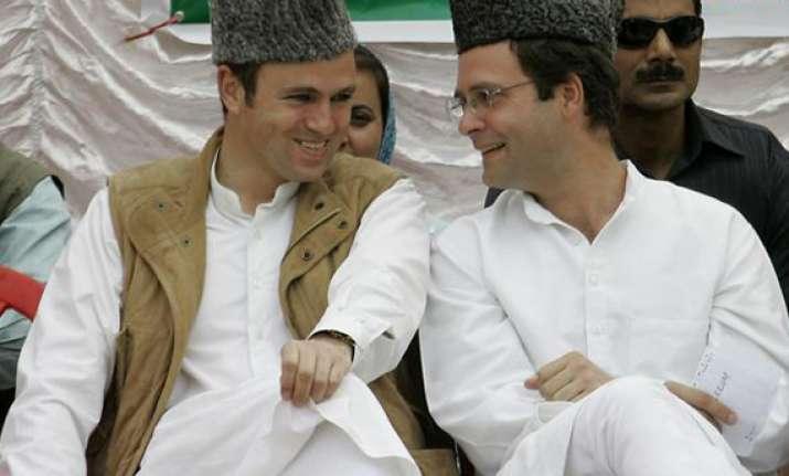 rahul visits amethi omar abdullah gives him company