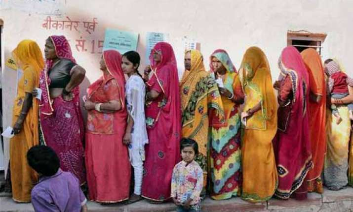 rajasthan nearly a third of all voters cast their ballots