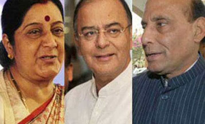 rajnath sushma swaraj jaitley sworn in as cabinet ministers