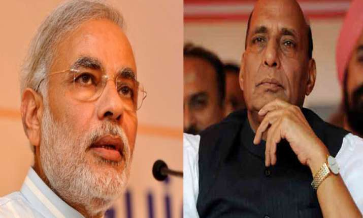rajnath commends people modi for victory