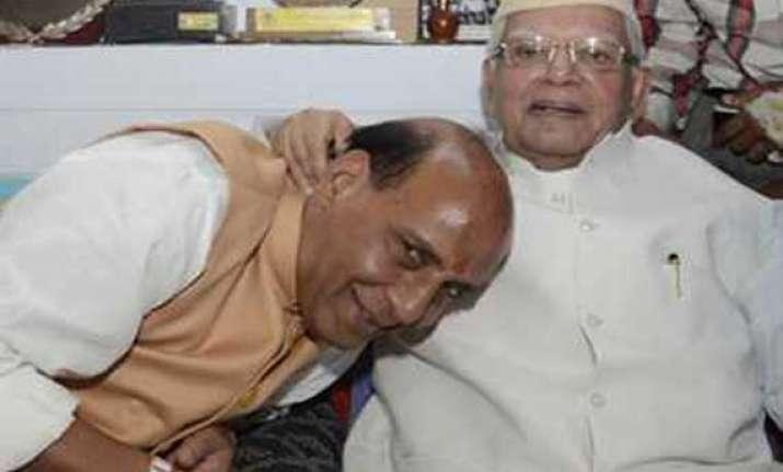 rajnath meets n d tiwari seeks blessing