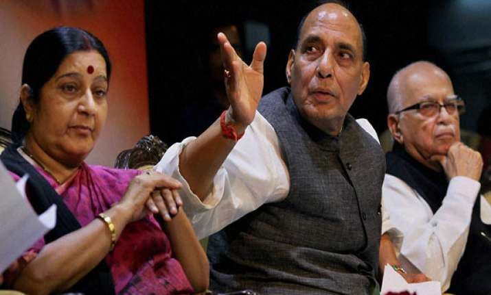 rajnath offers speaker s post to advani sushma to wait and