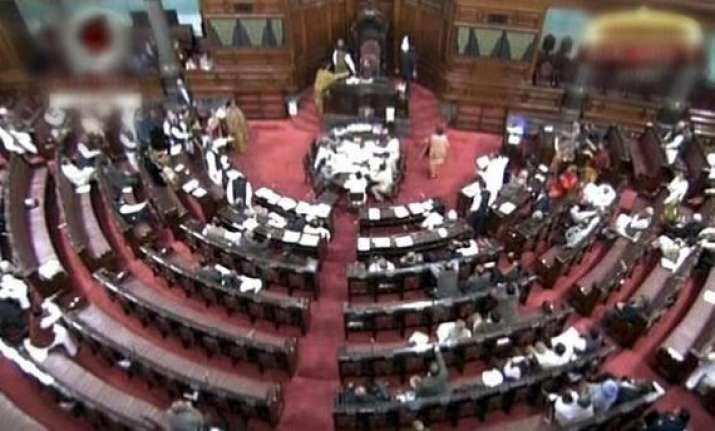 rajya sabha adjourned twice over hyderabad bombings