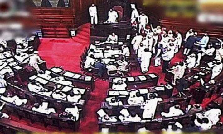 rajya sabha adjourned for day over quota bill