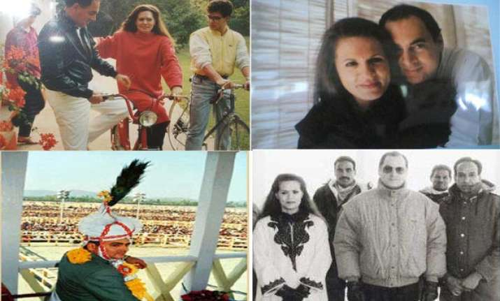 rare pictures of rajiv sonia gandhi and family